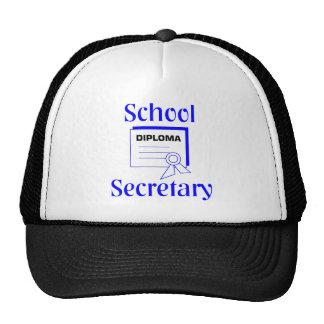 Secretaria Hat de la escuela Gorro
