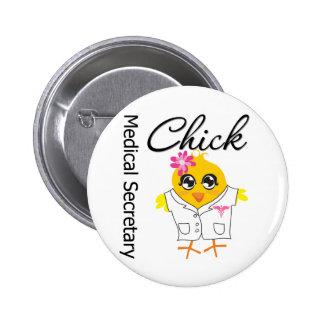 Secretaria médica Chick Chapa Redonda De 5 Cm