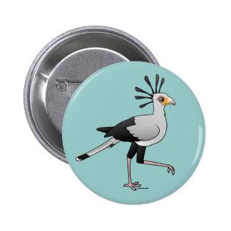 Secretaria pájaro chapa redonda de 5 cm