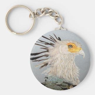 Secretaria pájaro llavero redondo tipo chapa
