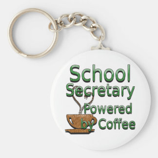 Secretaria Powered de la escuela por el café Llavero Redondo Tipo Chapa