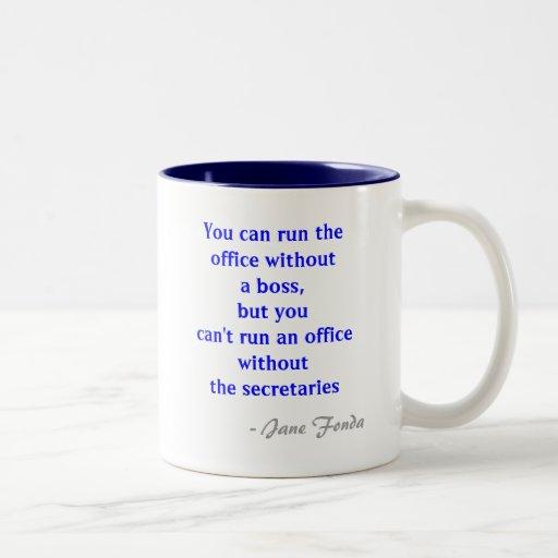 Secretaria Quote Mug de la oficina Taza