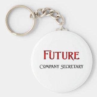 Secretario de la empresa futuro llavero redondo tipo chapa