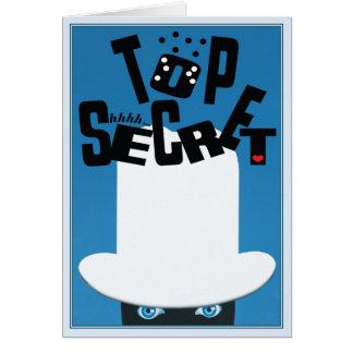 © secretísimo tarjeta de felicitación