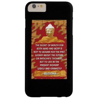 Secreto de la salud: Cita de Buda Funda Barely There iPhone 6 Plus