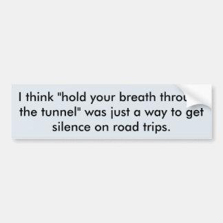 Secreto del viaje por carretera pegatina para coche