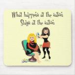 Secretos del salón de belleza alfombrilla de ratón