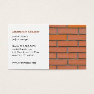 Sector de la construcción simple clásico tarjeta de negocios