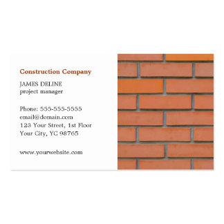 Sector de la construcción simple clásico tarjetas de visita