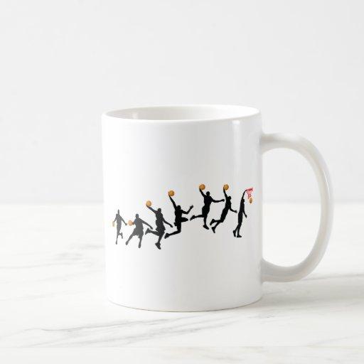 Secuencia de la clavada tazas de café