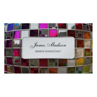 Secuencia del espejo del arco iris tarjeta de visita