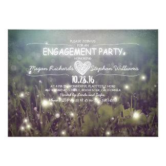 secuencia del fiesta de compromiso rústico de las invitacion personalizada