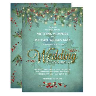 Secuencia del invierno de la invitación de boda de