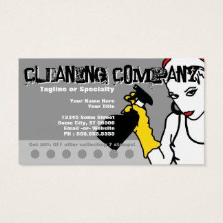 secuencia limpia (tarjeta del sello) tarjeta de negocios