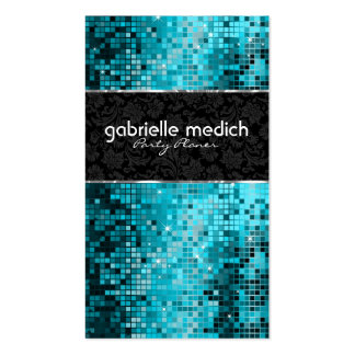 Secuencia metálica 2 del brillo azulverde elegante plantillas de tarjetas de visita