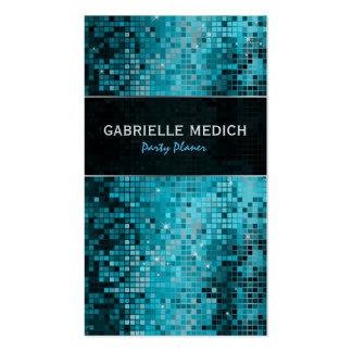 Secuencia metálica del brillo azulverde del disco tarjetas personales