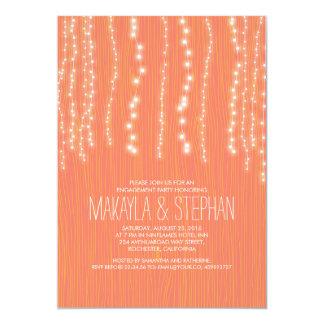 Secuencia rústica linda del fiesta de compromiso invitación 12,7 x 17,8 cm