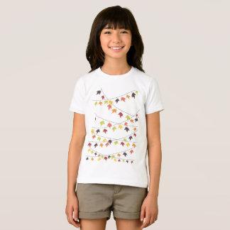 Secuencias coloridas de la hoja de la caída camiseta