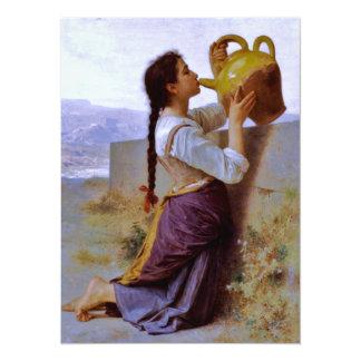 Sed (soif) del la - ~ de Bouguereau Invitación 13,9 X 19,0 Cm