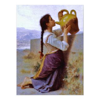 Sed (soif) del la - ~ de Bouguereau Invitación 16,5 X 22,2 Cm