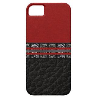 Seda del rojo del leopardo de la cebra funda para iPhone SE/5/5s