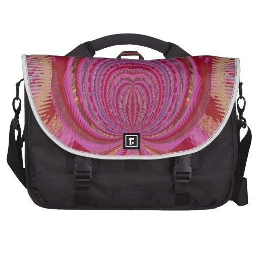 Seda púrpura del satén del amor del corazón del bolsas para ordenador