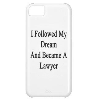Seguí mi sueño e hice abogado funda para iPhone 5C