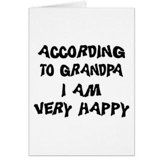 Según abuelo soy abuela feliz tarjeta