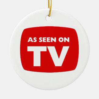 SEGÚN LO VISTO EN el ornamento de la TV Adorno Redondo De Cerámica
