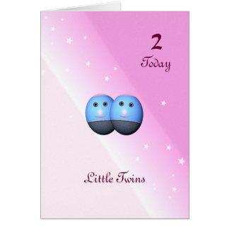Segunda tarjeta de cumpleaños para los chicas
