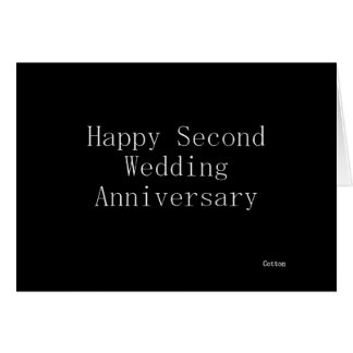 Segundo aniversario de boda feliz felicitación