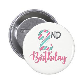 Segundo botón del chica del cumpleaños
