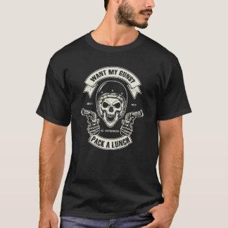 Segundo cráneo de la enmienda y la camiseta de los