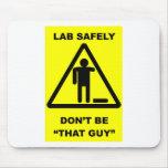 Seguridad 1 del laboratorio tapetes de raton