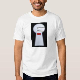 Seguridad de la contraseña camisetas
