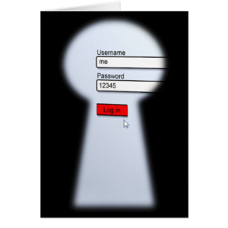 Seguridad de la contraseña tarjeta de felicitación
