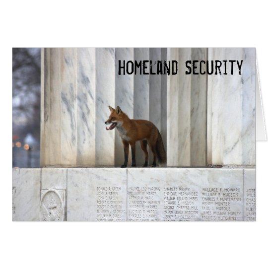 Seguridad de patria tarjeta de felicitación