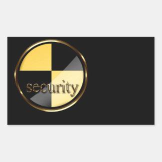 Seguridad Pegatina Rectangular