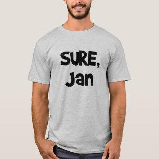 Seguro, camiseta de enero