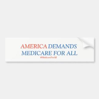 Seguro de enfermedad para todos los americanos pegatina para coche
