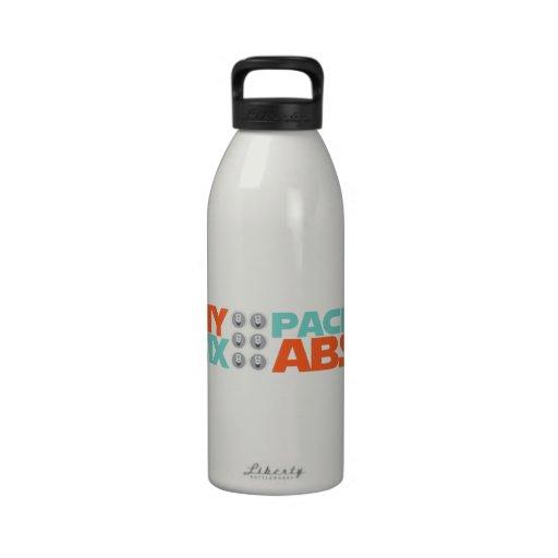 Seis ABS del paquete Botellas De Agua Reutilizables