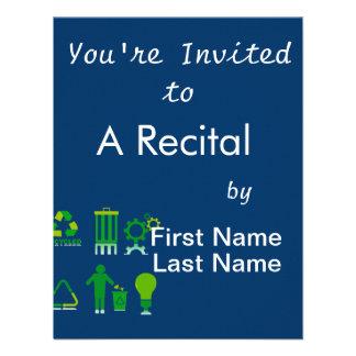 seis diseños de reciclaje en one.png invitacion personalizada