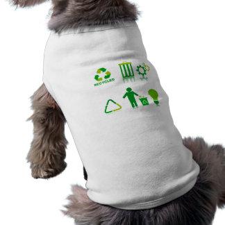 seis diseños de reciclaje en one png ropa perro