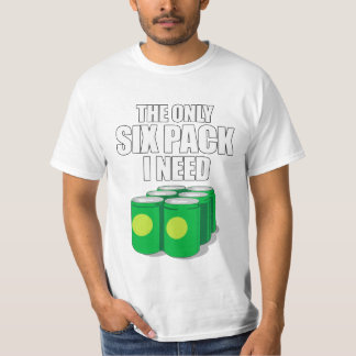 Seis paquetes camiseta