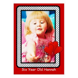Seis tarjetas años de la foto del cumpleaños de lo plantillas de tarjetas personales