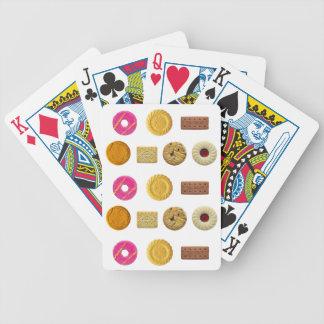 Selección de la galleta baraja cartas de poker