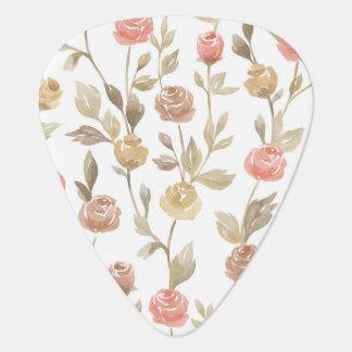 Selección elegante del guitarrista de los rosas púa de guitarra