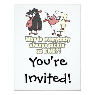 selección en humor de las ovejas negras de la invitación 10,8 x 13,9 cm