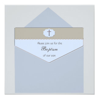 Sellado con un azul de la bendición - invitación