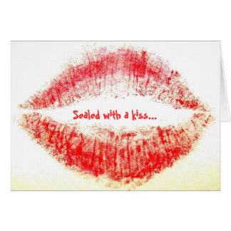 Sellado con un beso… tarjeta de felicitación